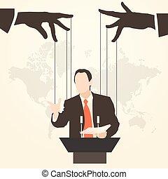 man speaker silhouette preaching presentation - Vector...