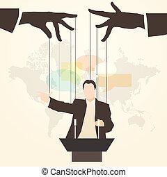 man speaker silhouette speaker mass media - Vector...