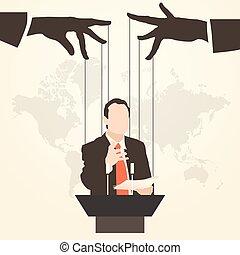 man speaker silhouette speaking orator - Vector illustration...