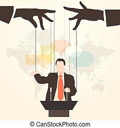 man speaker silhouette stooge - Vector illustration man...