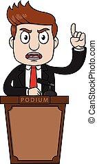 Man Speaking podium