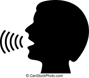 Man speaking vector icon