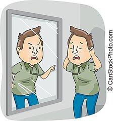 Man Split Personality