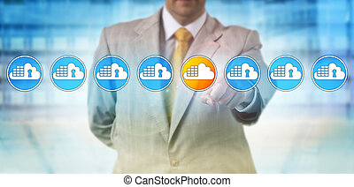 Man Spotting Vulnerable Cloud Container In Lineup