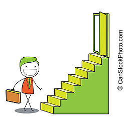 man stairs
