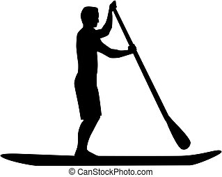 Man Stand up paddle