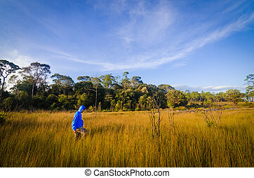Man standing in field