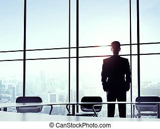 man standing in office
