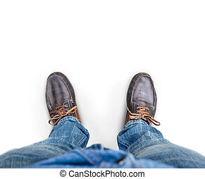 Man standing on a white background.