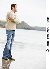 Man standing on beach