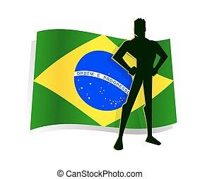Man Standing Pride In Front of Braz