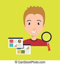 man statistics graphic search