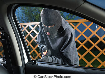 Man stealing car