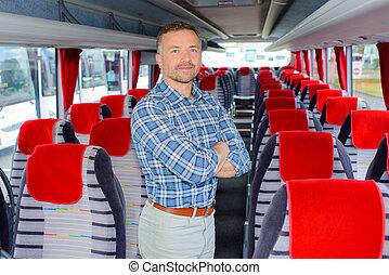Man stood in coach