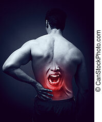 Man suffering back pain