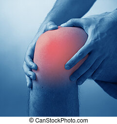 Man suffering from acute pain in knee