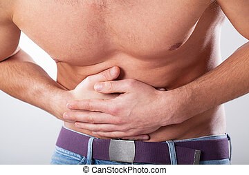 Man suffering from stomachache