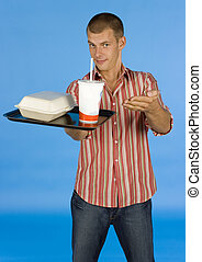 man suggests fast food meal