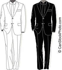 Man suit. Clothes collection. Vector. - Man suit. Clothes...