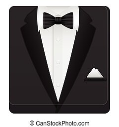 Man suit icon on a white background. Vector illustration.