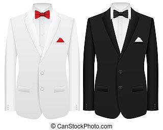 man suit - Men formal suit on a white background.