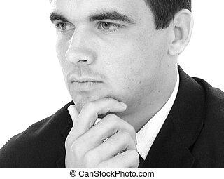 Man Suit Thinking