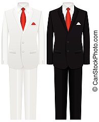 man suit - Men formal suit on a white background.