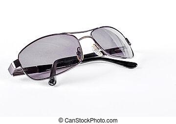 Man sunglasses with metal rim.