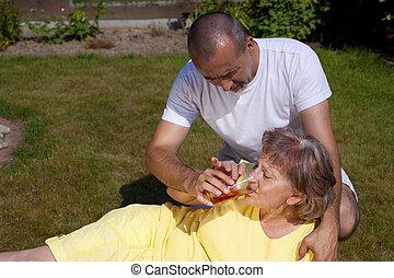 Man supplied woman with heat stroke