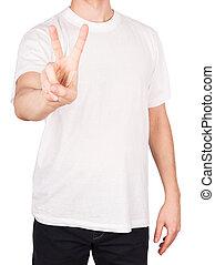 man T-shirt peace