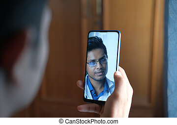 man taking online consultation with doctor on smart phone