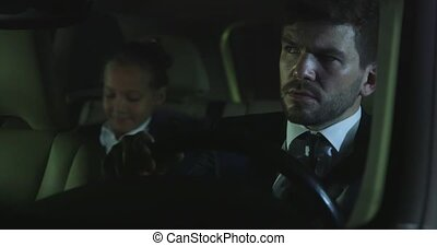 Man talk to girl in car.