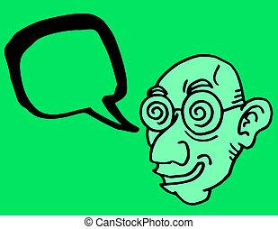 Man talkative