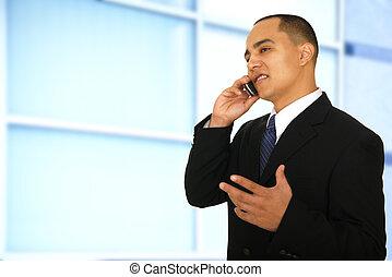Man Talking In Office Environment