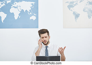 Man talking on a phone
