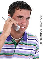 man, telefoon, cellphone