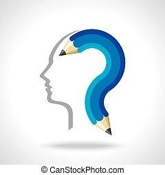 man thinking for education idea