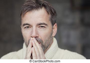 Man Thinking - Mature Man Thinking