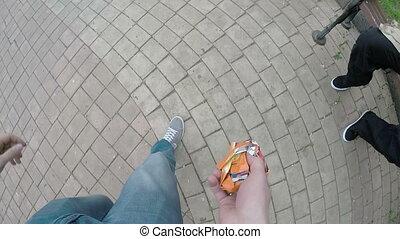 Man Throwing Garbage Into Basket - man throwing garbage into...