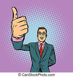 man thumb up, like