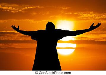 man, tillbedjan