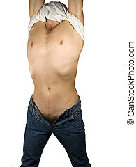 Man  torso - Muscular naked man torso