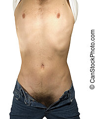 Man  torso - Muscular naked man torso - with clipping path
