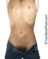 Man  torso - Muscular naked man torso - with clipping path
