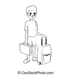 tourist icon image - man tourist icon image vector ...
