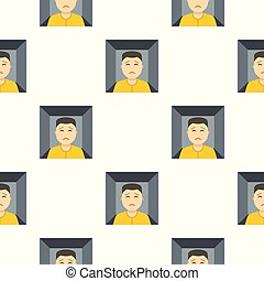 Man trapped in a box pattern seamless