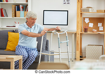 Man trying to stand up