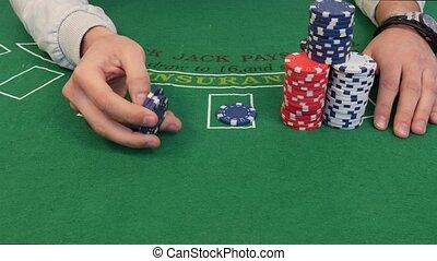 Man Turns Poker Chips in 4k