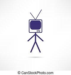 man TV icon