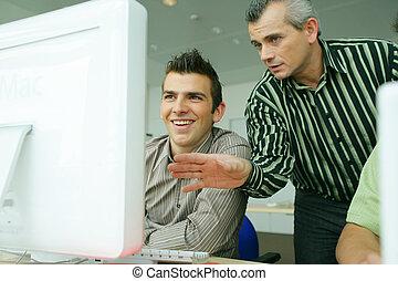 man, undervisning, dator, expertis